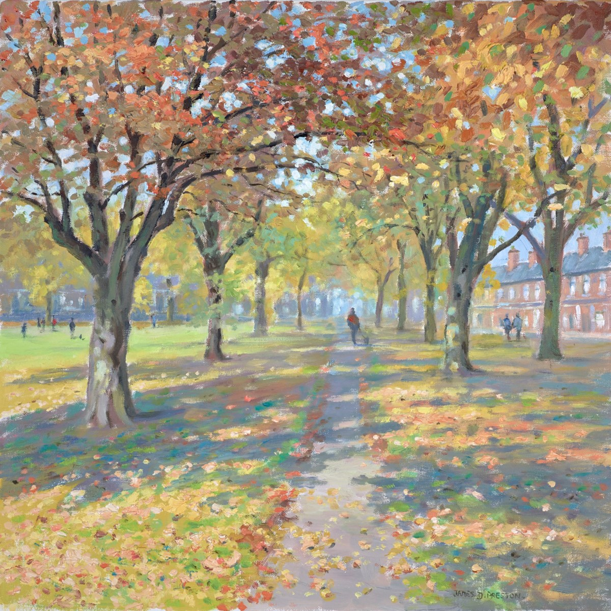 Autumn, Chester Green by james preston -  sized 20x20 inches. Available from Whitewall Galleries
